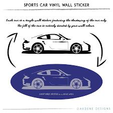 sports car vinyl wall sticker by oakdene designs sports car vinyl wall sticker