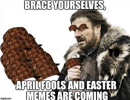 April Meme - happy easter and april fools try to find the three easter eggs not