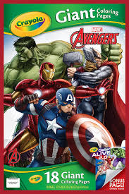 amazon com crayola avengers assemble giant coloring pages toys