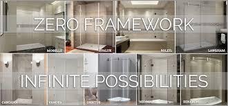 aston completely frameless shower doors tub doors u0026 enclosures