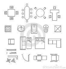 chair symbol floor plan linear vector symbols floor plan icons
