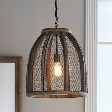 Wire Pendant Light Chicken Wire Pendant Light Large Shades Of Light