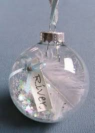 guardian ornament clear ornament filled with some glitter