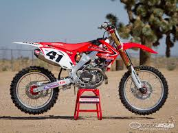 freestyle motocross bikes trey canard honda crf450r factory motocross bike test photos
