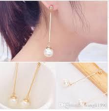 pearl dangle earrings 2018 2015 fashion pearl dangle earrings for ol womens