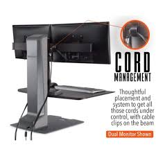 Electric Sit To Stand Desk Winston E Electric Dual Monitor Mounts Sit Stand Desk Standing Converter Steady Ss Innovative Wnste 2 270 695 Jpg V 1520438899
