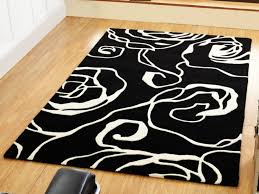 rug black and white area rug 8 10 wuqiang co