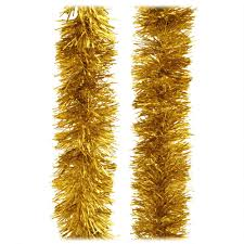 15 foot gold tinsel garland novelty bead tinsel garlands