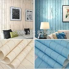 chambre peinte en bleu papier peint bande planche de bois pour enfants chambre à coucher