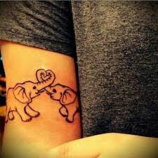 cute small elephant family tattoo on inner arm fmag com
