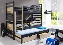 Triple Bunk Beds Solid Wooden Beds - Triple bunk beds with mattress