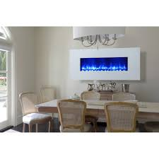 modern electric fireplaces allmodern miami led wall mount