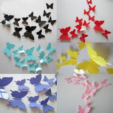 compare prices on plastic animation paper online shopping buy low 12 pcs 3d butterfly wall stickers butterflies docors art diy decoration paper china mainland