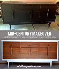 Upcycle Laminate Furniture - mimiberry creations mid century modern dresser makeover