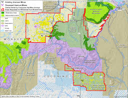 Map Of Grand Canyon Appeals Court Upholds Reopening Of Uranium Mine Near Grand Canyon