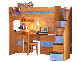 Berg Furniture Utica Twin Dorm Loft Bed With Stairs - Dorm bunk beds