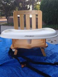 booster seat for bench table eddie bauer 2 level wooden booster seat baby kids in los angeles ca