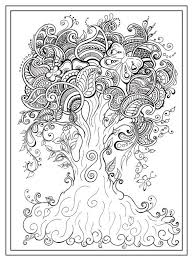 410 Best Adult Colouring Trees Leaves Landscapes Images Tree Coloring Pages