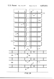patent us4059931 building framing system for post tensioned