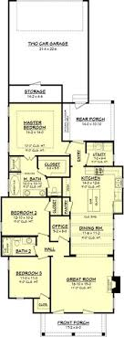 narrow cottage plans narrow lot roomy feel hwbdo75757 tidewater house plan from