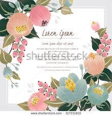 Border Designs For Birthday Cards Vector Illustration Beautiful Floral Vine Border Stock Vector