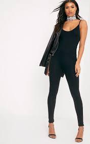 legging jumpsuit khlara black jersey low back jumpsuit jumpsuits