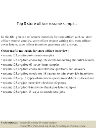 Sample Resume Objectives For College Graduates by Top8storeofficerresumesamples 150514080208 Lva1 App6892 Thumbnail 4 Jpg Cb U003d1431590571
