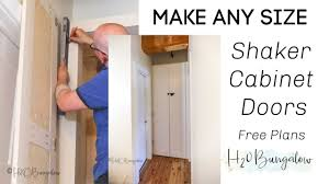 how to make simple shaker cabinet doors how to make shaker style cabinet doors without a router