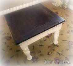 the top was stained with minwax antique walnut stain 3 coats