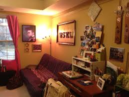 Marvelous College Dorm Room Ideas With Brown Wooden Desk Fitted F