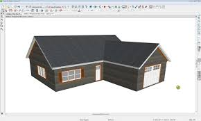 Shed Roof House Generating A Roof Over An L Shaped House With Gable Ends