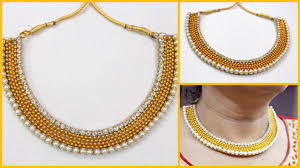 handmade designer jewellery how to make partywear designer necklace at home i handmade chokar