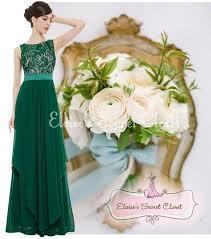 alice emerald green lace chiffon prom evening bridesmaid dress uk