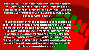 Ottoman Empire Facts History Facts On The Arab Revolt Against The Ottoman
