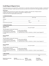 dispute credit report letter template credit report form 2 free templates in pdf word excel download credit report dispute form template