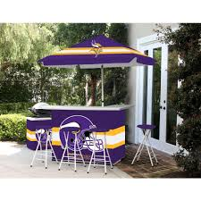 Gazebo With Bar Table Best Of Times Minnesota Vikings 6 Piece All Weather Patio Bar Set