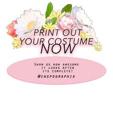 diy print out snapchat flower crown filter halloween costume