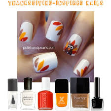 thanksgiving inspired nails polyvore