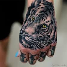 96 tiger on arm