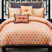 westgate tangerine orange geometric comforter set colors of zen