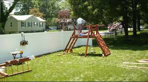 Costco Playground Swing Set Installer All American Double Decker Youtube