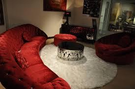 divani casa cosmopolitan mini red sectional sofa set sofas