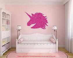 stickers muraux chambre fille ado sticker mural licorne paillettes lautocollant de grande