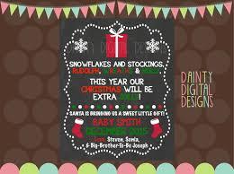 christmas pregnancy announcement christmas pregnancy announcement printable 8x10 keepsake