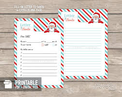 printable letter to santa kit with envelope template my party design