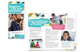 Health Brochure Templates adolescent counseling tri fold brochure template design