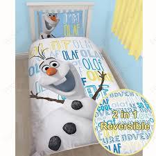 Eeyore Duvet Set Character World Disney Frozen Olaf Single Panel Duvet Set White