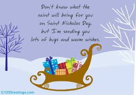 hugs and warm wishes free st nicholas day ecards greeting cards