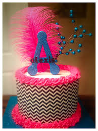 edible sheets black white chevron cake with pink and blue accents edible sugar