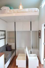 best images about living small pinterest tiny homes bed raises the ceiling plenty closet storage lounge doors open http
